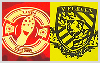 単色ロゴ・エンブレムのデザインサンプルです。チーム名の打ち替えもできます!