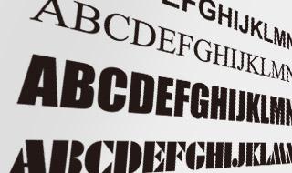 ピステ専用プリントの対応カラーと書体の一例